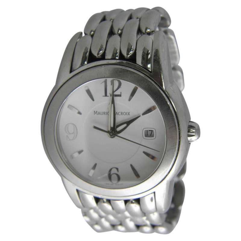 "Image of ""Maurice Lacroix Sh1018 Ag43015 Stainless Steel Quartz 39mm Mens Watch"""