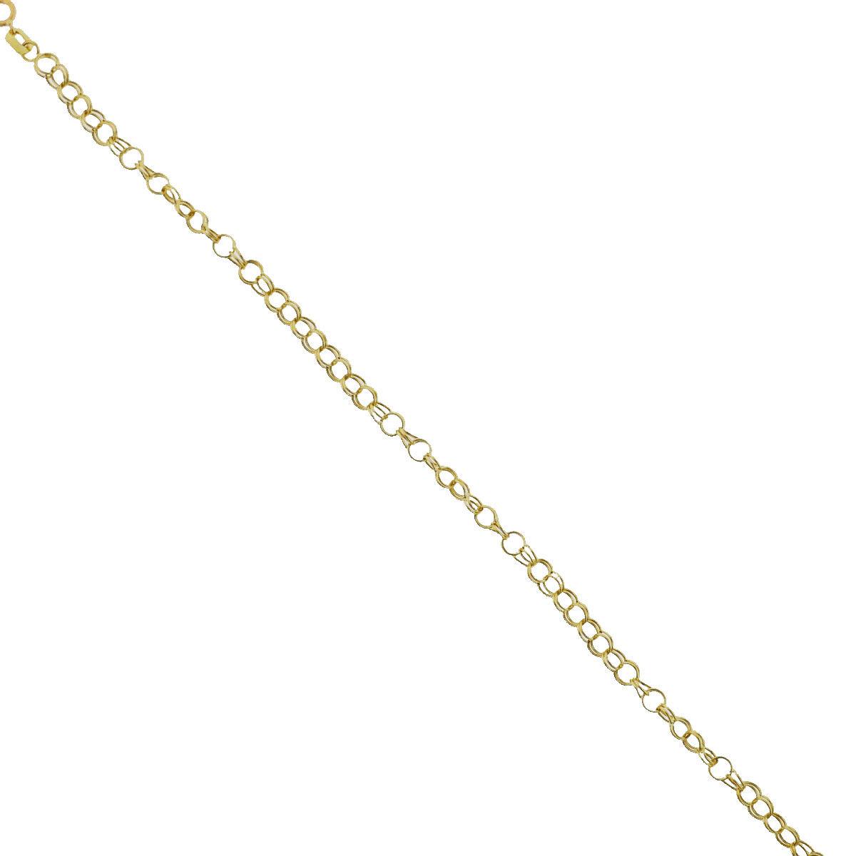 "Image of ""14K Yellow Gold Round Link Bracelet"""