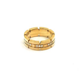Cartier Tank Francaise 18K Yellow Gold and Diamond Ring Size 5