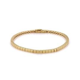 Cartier Lanieres 18K Yellow Gold Cube Link Bracelet