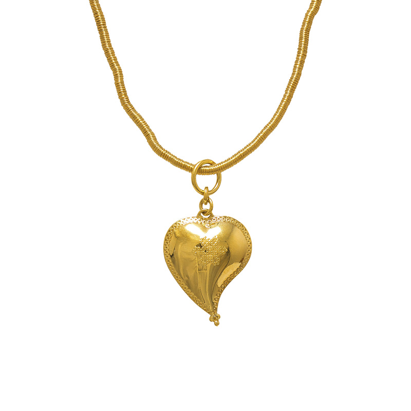 "Image of ""H. Stern Diane Von Furstenberg 18K Yellow Gold Heart Necklace"""