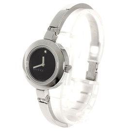 Gucci YA105 1 Point Diamond Stainless Steel 26mm Women's Watch