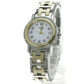 Hermes Clipper CL4.220 Stainless Steel and Gold Plated 24mm Womens Watch