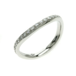 Cartier PT950 Platinum Diamond Ring Size 4.5