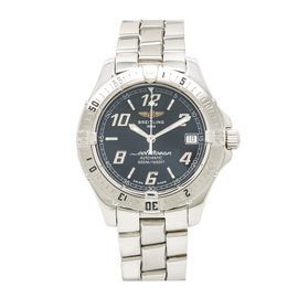 Breitling Colt A17350 Stainless Steel Black Dial Automatic 38mm Mens Watch