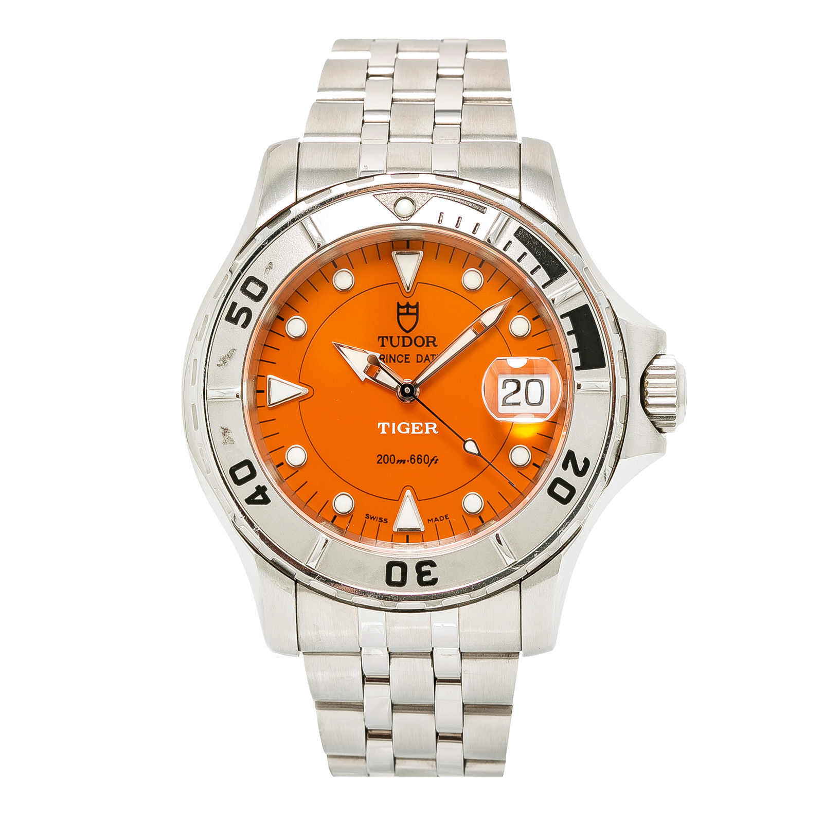 """Image of """"Tudor Prince Date 89190 Stainless Steel with Orange Dial Automatic"""""""