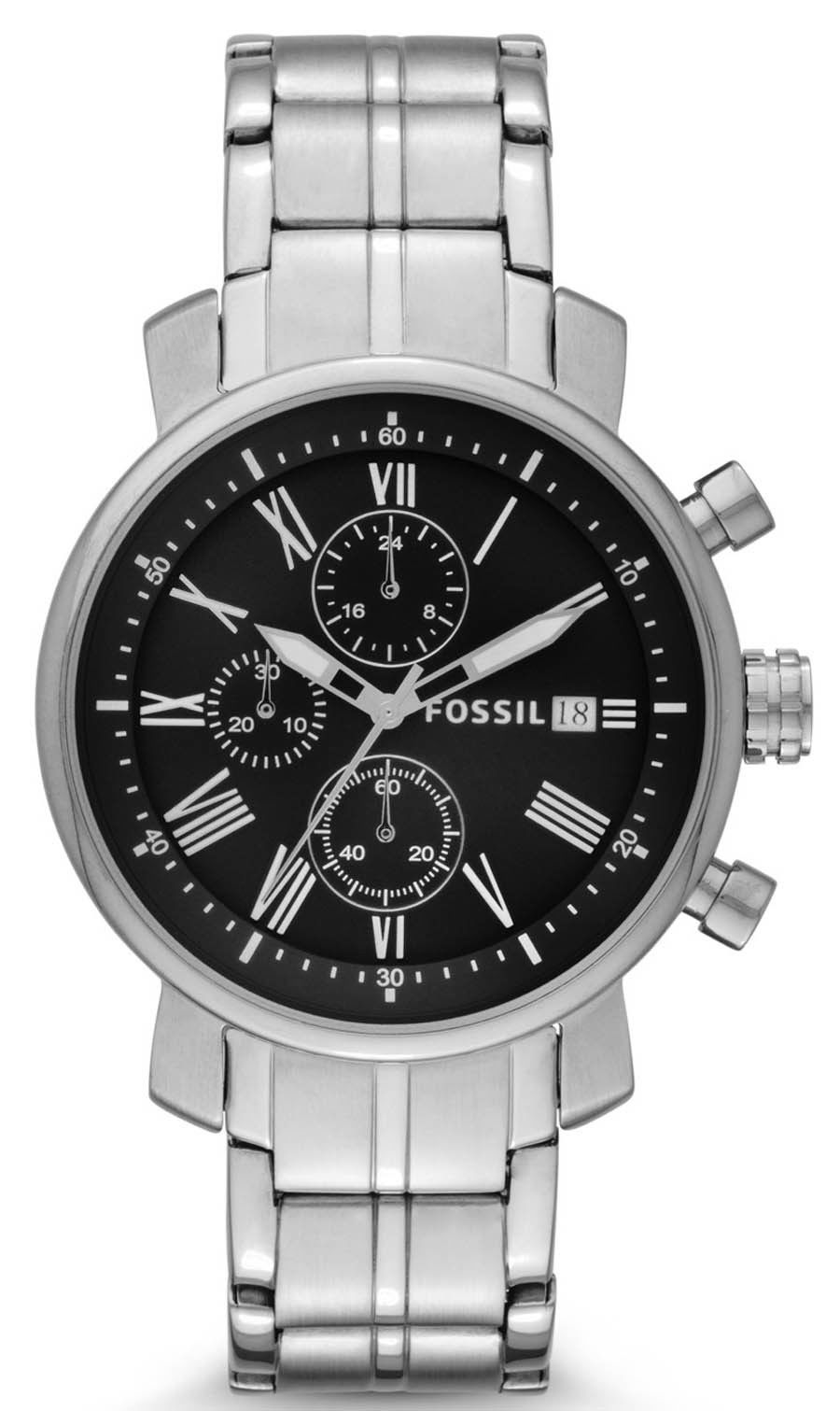 "Image of ""Fossil Bq1000 Stainless Steel Quartz 42mm Mens Watch"""