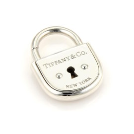 Tiffany & Co. Sterling Silver Arc Pad Lock Charm Pendant