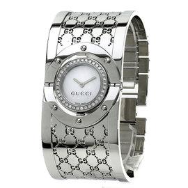 Gucci YA112 Stainless Steel Diamond Bezel 23mm Women's Watch
