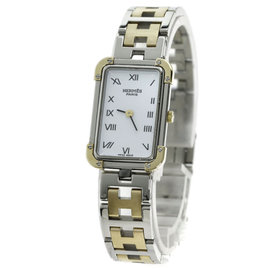 Hermes CR1.220 Gold Plated / Stainless Steel 26mm Womens Watch
