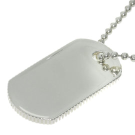 Tiffany & Co. 925 Sterling Silver Dog Tag Necklace