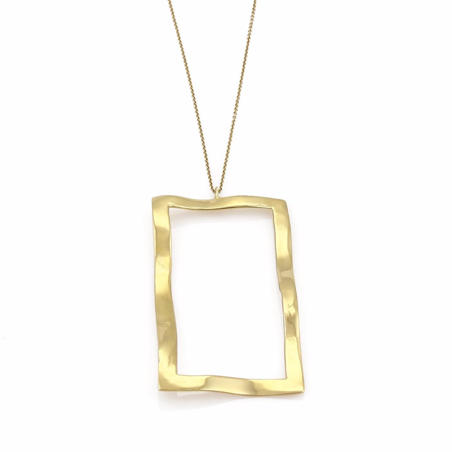 "Image of ""Ippolita 18K Yellow Gold Open Wave Window Pendant Necklace"""