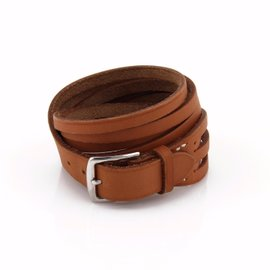 Hermes Leather Multi Strips Belt & Buckle Bracelet