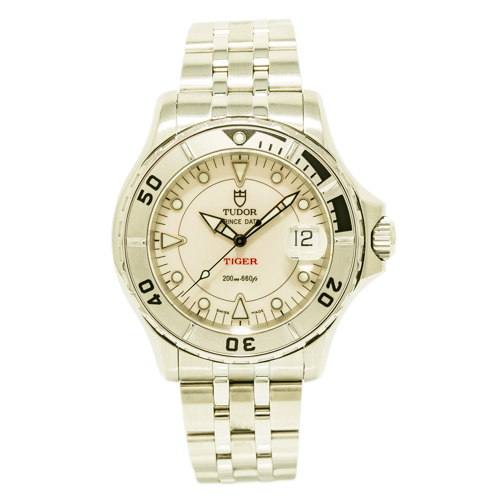 "Image of ""Tudor Prince Date 89190 Stainless Steel with White Dial Automatic 40mm"""