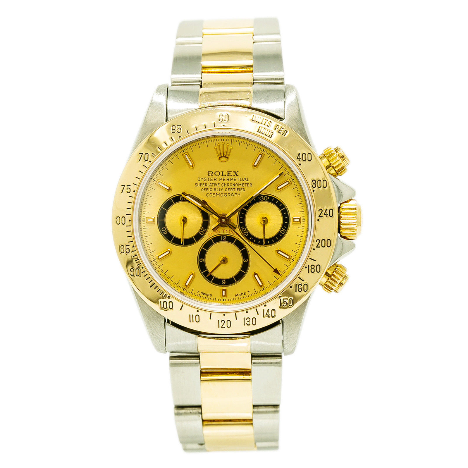 """Image of """"Rolex Daytona Zenith 16523 Stainless Steel / 18K Yellow Gold with"""""""