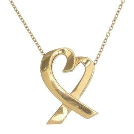 Tiffany & Co. Paloma Picasso 18K Yellow Gold Loving Heart Pendant Necklace
