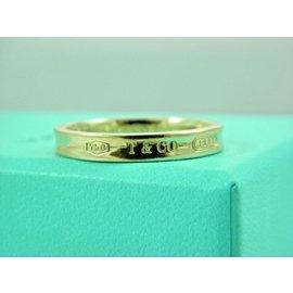 Tiffany & Co. 1837 18K Yellow Gold Narrow Band Ring Size 12.5