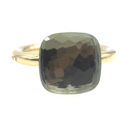 Pomellato Nudo Maxi 18K Yellow Gold with Prasioliote Ring Size 6.25
