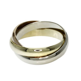 Cartier Trinity 18K Yellow, Rose & White Gold Ring Size 6.75
