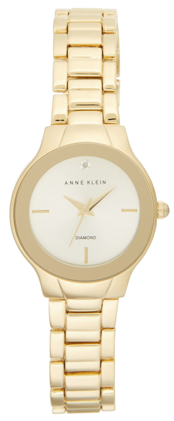 "Image of ""Anne Klein Ak/2548Chgb Gold Tone Stainless Steel and Diamond Dial 28mm"""