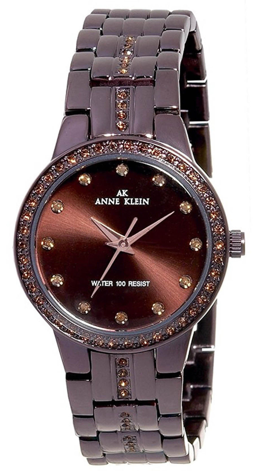 "Image of ""Anne Klein 10/8213Bnbn Brown Ion Plated Stainless Steel Brown Dial"""