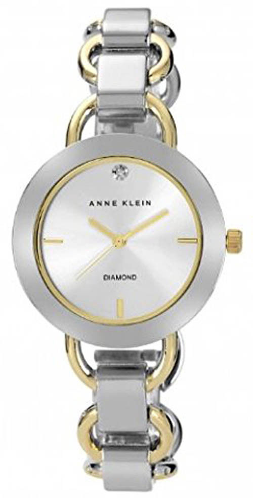 "Image of ""Anne Klein Ak/1385Svtt Silver Diamond Dial Two Tone Stainless Steel"""