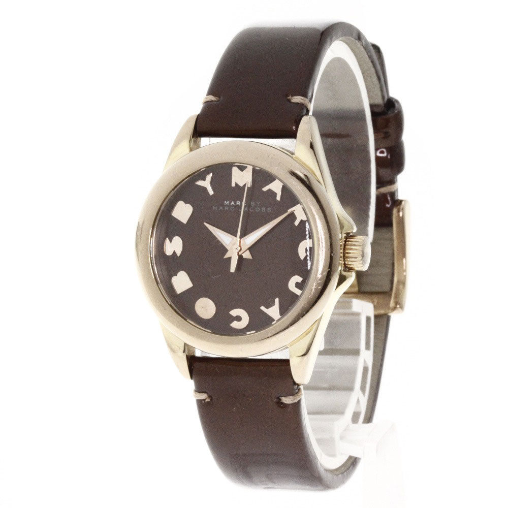 "Image of ""Marc by Marc Jacobs 1196 Stainless Steel / Leather 28mm Womens Watch"""