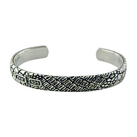 David Yurman 925 Sterling Silver Gator Cuff Bracelet