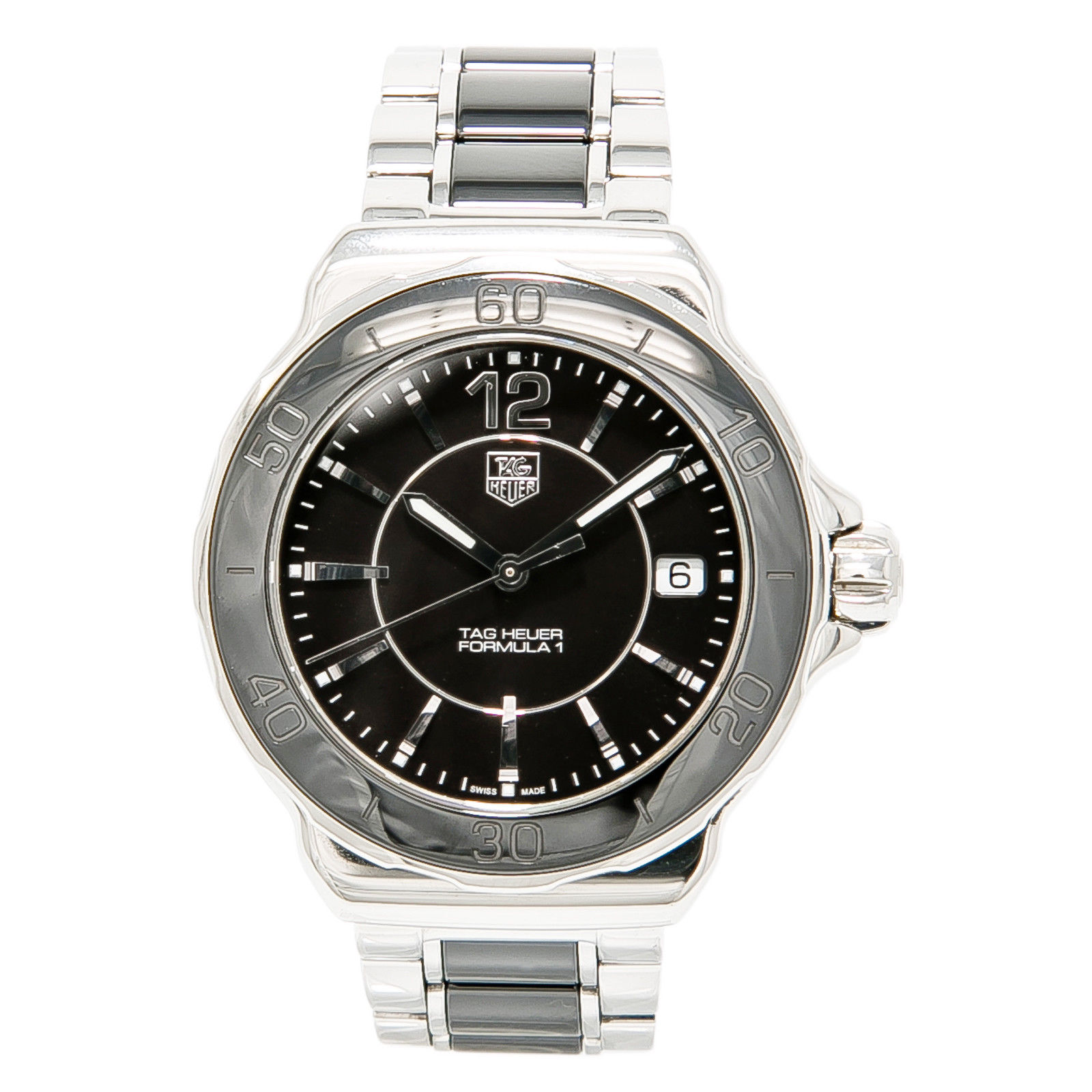 "Image of ""Tag Heuer Formula 1 Wah1210 Stainless Steel Black & Ceramic Quartz"""