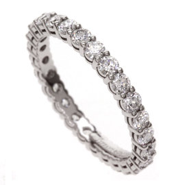 Tiffany & Co. Platinum PT950 Diamond Band Ring Size 4
