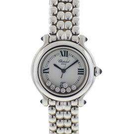 Chopard Happy Sport Stainless Steel & Floating Diamonds 32mm Womens Watch