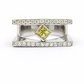 Vintage 18K White Gold with 0.46ct Diamonds Ring Size 4.5