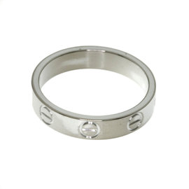 Cartier Mini Love 18K White Gold Ring Size 4.5