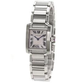 Cartier Tank Francaise Stainless Steel Quartz 25mm Womens Watch
