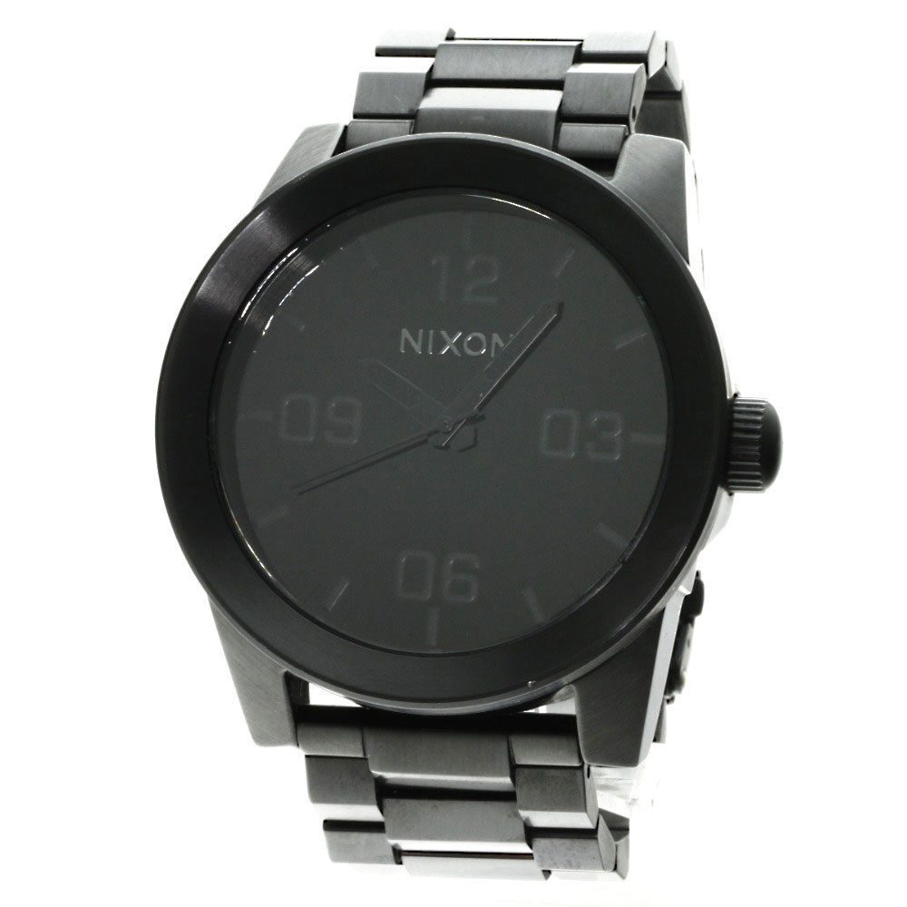 "Image of ""Nixon Black Stainless Steel Quartz 48mm Mens Watch"""
