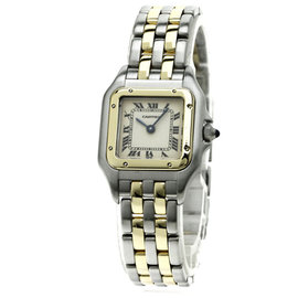 Cartier Pantheresm 18K Yellow Gold/Stainless Steel Quartz 22mm Womens Watch