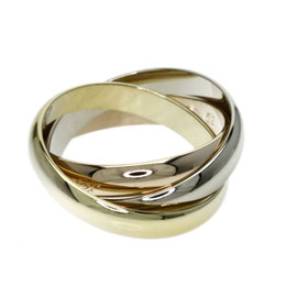 Cartier 18K Yellow, White & Rose Gold Trinity Ring Size 6