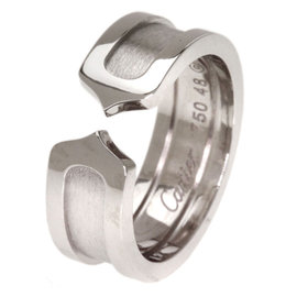Cartier 18K White Gold Ring Size 4.25
