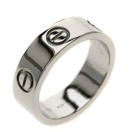 Cartier Love 950 Platinum Ring Size 4.75