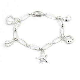 Tiffany & Co. Elsa Peretti 925 Sterling Silver Charm Bracelet