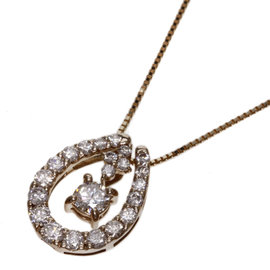 18K Rose Gold with 0.20ct. Diamond Necklace