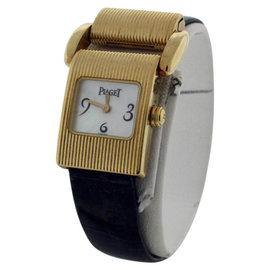Piaget Classique 18K Yellow Gold and Mother of Pearl Dial Womens Watch