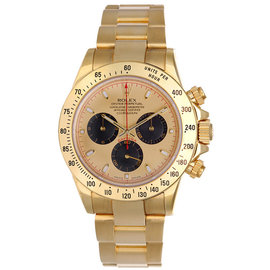 Rolex Daytona 116528CBKSO 18K Yellow Gold Automatic Chronograph Champagne Dial Mens Watch