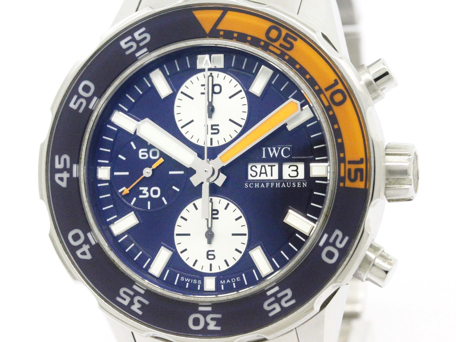 """Image of """"IWC Aqua Timer Iw376703 Stainless Steel Automatic 44mm Mens Watch"""""""