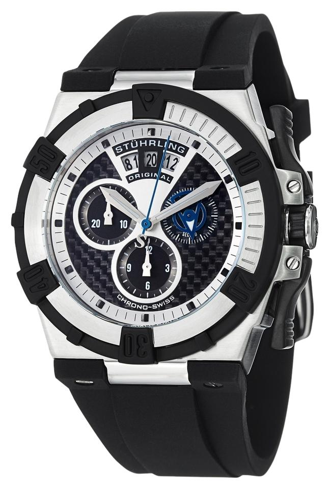 """Image of """"Stuhrling Falcon 220.33161 Stainless Steel & Rubber 49mm x 45mm Watch"""""""