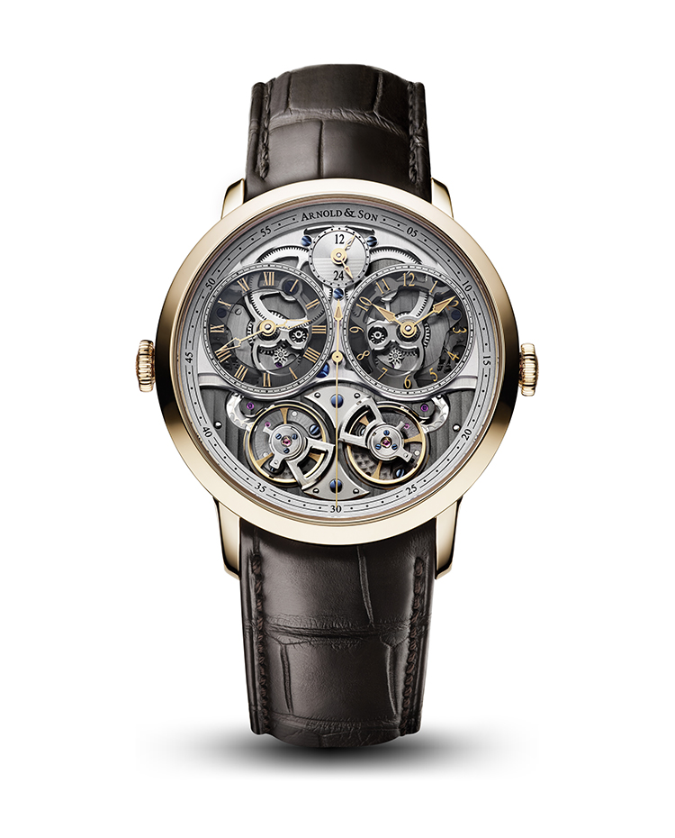 "Image of ""Instrument DBG Skeleton Rose Gold Watch"""