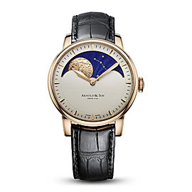 Royal HM Perpetual Moon Rose Gold Cream Dial Watch