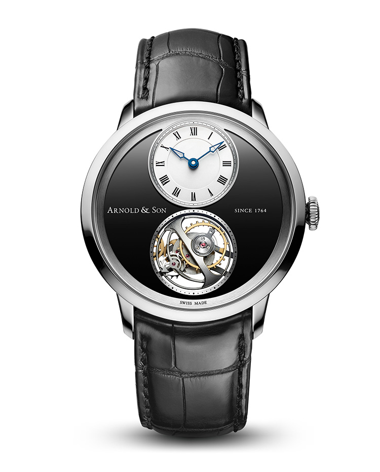 "Image of ""Instrument Utte Palladium Black Dial Watch"""