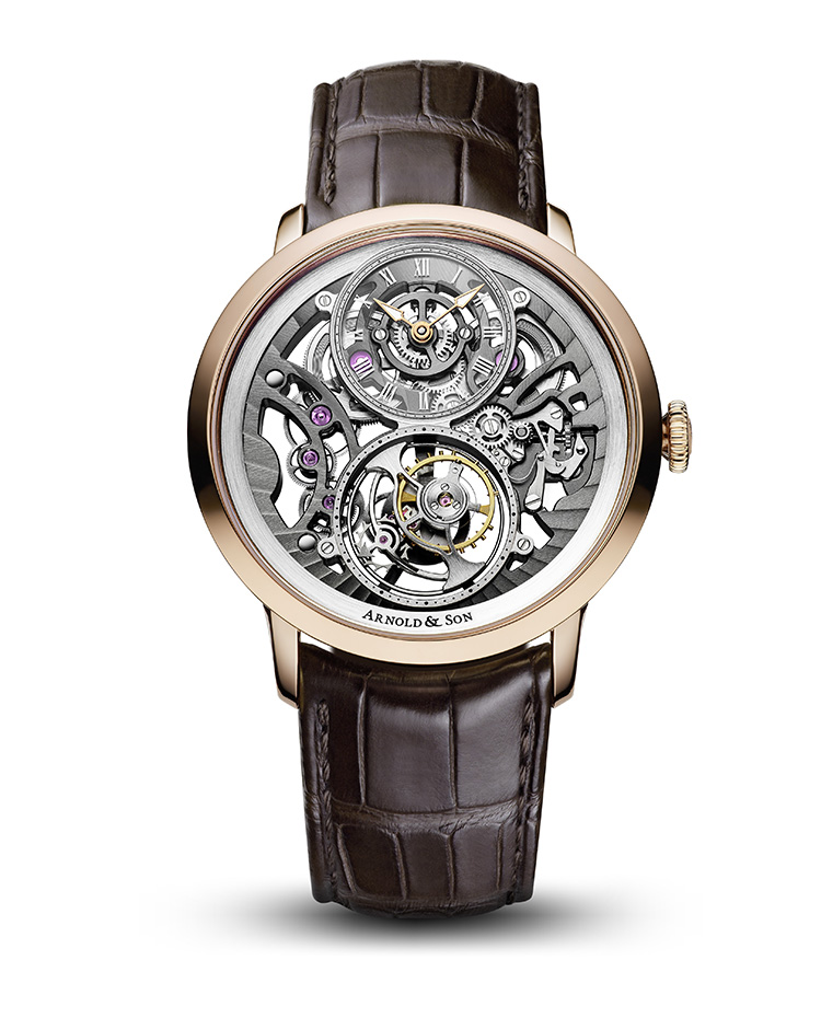 "Image of ""Instrument Utte Skeleton Rose Gold Watch"""