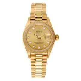 Rolex Datejust President 18K Yellow Gold and Diamond Womens Watch